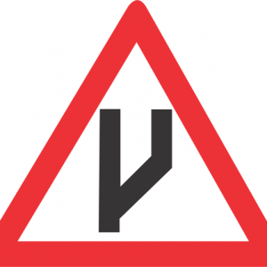 BEGINNING OF DUAL ROADWAY STRAIGHT ON ROAD SIGN W118 300x300 - BEGINNING OF DUAL ROADWAY (STRAIGHT ON) ROAD SIGN (W118)
