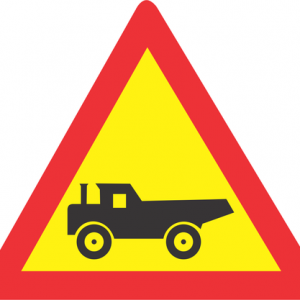 CONSTRUCTION VEHICLE CROSSING ROAD SIGN TW345 300x300 - CONSTRUCTION VEHICLE CROSSING ROAD SIGN (TW345) 1200mm