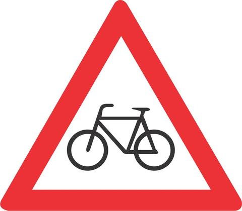 CYCLISTS ROAD SIGN W309 - CYCLISTS ROAD SIGN (W309)