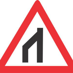 END OF DUAL ROADWAY TO RIGHT ROAD SIGN W116 300x300 - END OF DUAL ROADWAY (TO RIGHT) ROAD SIGN (W116)