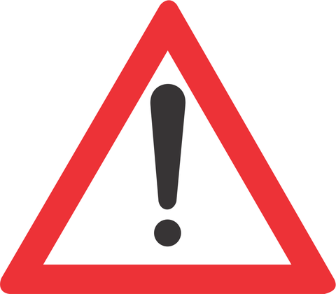 GENERAL WARNING ROAD SIGN W339 - GENERAL WARNING ROAD SIGN (W339)