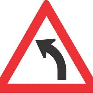 GENTLE CURVE LEFT ROAD SIGN W203 300x300 - GENTLE CURVE (LEFT) ROAD SIGN (W203)