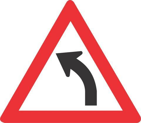GENTLE CURVE LEFT ROAD SIGN W203 - GENTLE CURVE (LEFT) ROAD SIGN (W203)