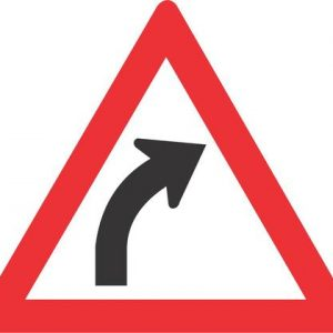 GENTLE CURVE RIGHT ROAD SIGN W202 300x300 - GENTLE CURVE (RIGHT) ROAD SIGN (W202)