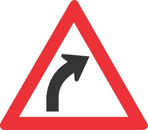 GENTLE CURVE RIGHT ROAD SIGN W202 - GENTLE CURVE (RIGHT) ROAD SIGN (W202)