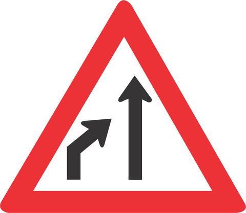 LEFT LANE ENDS ROAD SIGN W215 - LEFT LANE ENDS ROAD SIGN (W215)