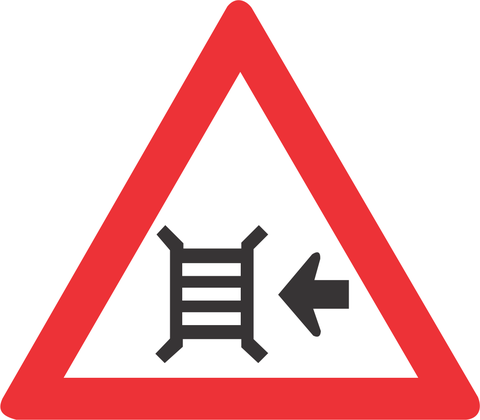 MOTOR GATE RIGHT ROAD SIGN W315 - MOTOR GATE (RIGHT) ROAD SIGN (W315)