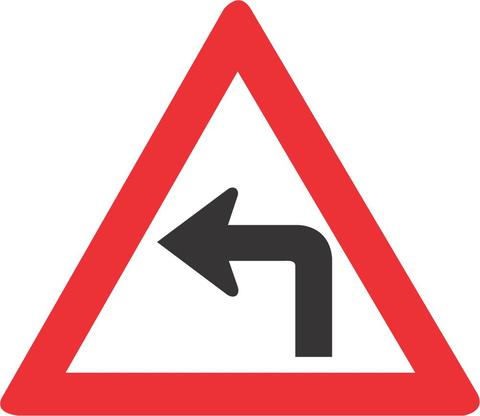 SHARP CURVE LEFT ROAD SIGN W205 - SHARP CURVE (LEFT) ROAD SIGN (W205)