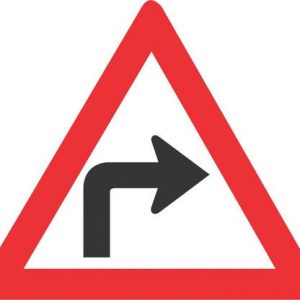 SHARP CURVE RIGHT ROAD SIGN W204 300x300 - SHARP CURVE (RIGHT) ROAD SIGN (W204)