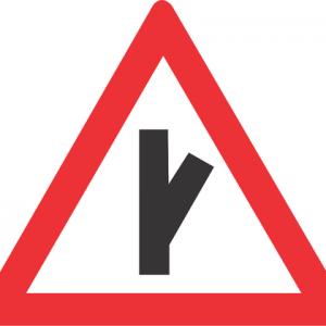 SHARP JUNCTION HALF RIGHT ROAD SIGN W113 300x300 - SHARP JUNCTION (HALF-RIGHT) ROAD SIGN (W113)