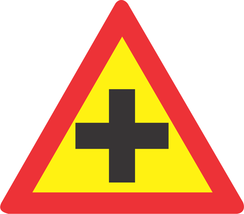 TEMPORARY CROSSROAD ROAD SIGN TW101 - TEMPORARY CROSSROAD ROAD SIGN (TW101)