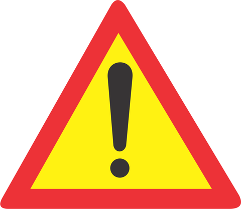 TEMPORARY GENERAL WARNING ROAD SIGN TW339 - TEMPORARY GENERAL WARNING ROAD SIGN (TW339)