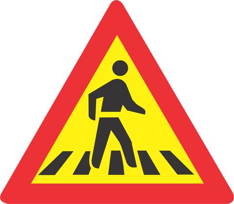 TEMPORARY PEDESTRIAN CROSSING ROAD SIGN TW306 1 - SCHOLAR PATROL AHEAD ROAD SIGN (TW305)