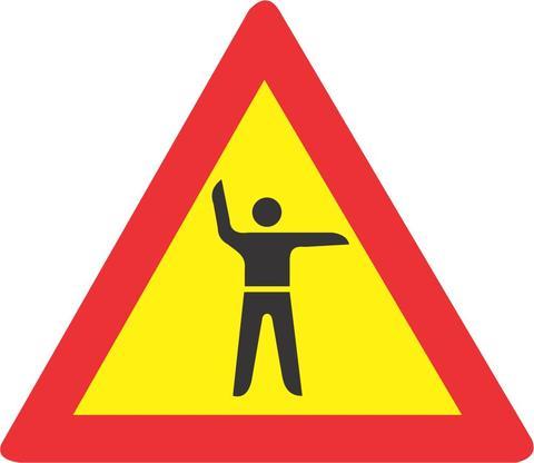 TRAFFIC CONTROL AHEAD ROAD SIGN TW304 - TRAFFIC CONTROL AHEAD ROAD SIGN (TW304)