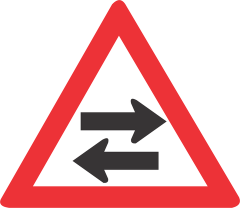 TWO WAY TRAFFIC CROSS ROAD ROAD SIGN W213 - TWO - WAY TRAFFIC CROSS-ROAD ROAD SIGN (W213)