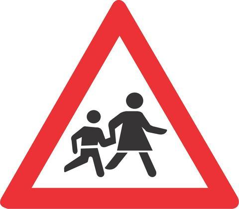 WARNING CHILDREN ROAD SIGN W308 - WARNING CHILDREN ROAD SIGN (W308)