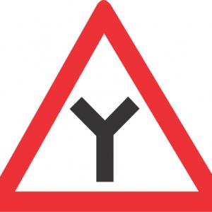 Y JUNCTION ROAD SIGN W115 300x300 - Y JUNCTION ROAD SIGN (W115)