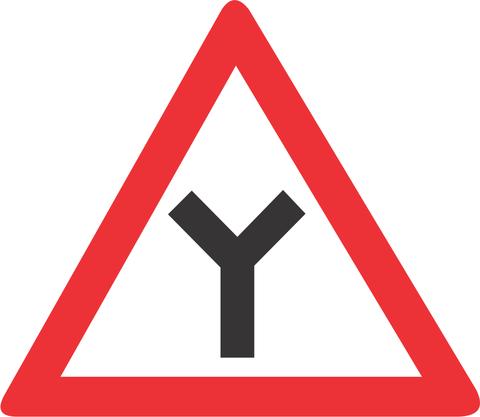 Y JUNCTION ROAD SIGN W115 - Y JUNCTION ROAD SIGN (W115)